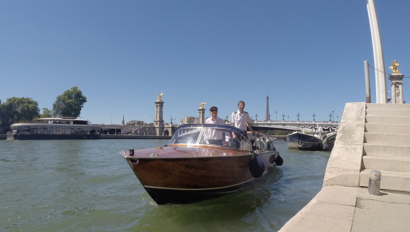 Le Motoscafo pendant une croisière sur la Seine