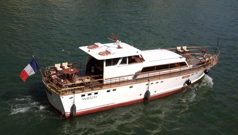 On board of Dolce Vita Motor Yacht