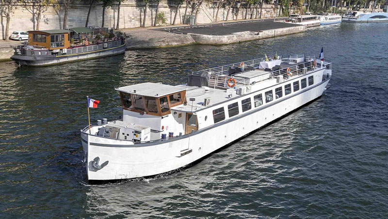 A bord du Spirit of Paris yacht